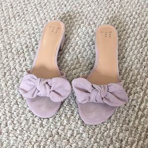 Lavender mules from A New Day.